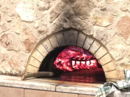 Stone/wood fire pizza oven.